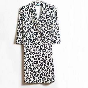 J. McLaughlin Terin Animal Print Dress M